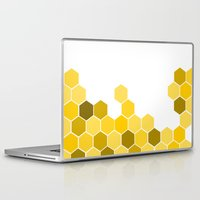 honeycomb Laptop & iPad Skins featuring Honeycomb by KelC