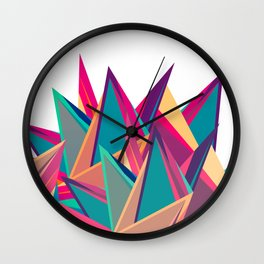 Triangles Intensive (White) Wall Clock