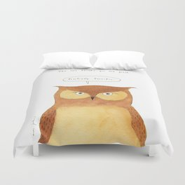 This owl thinks you're great Duvet Cover