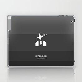 Flat Christopher Nolan movie poster: Inception Laptop & iPad Skin