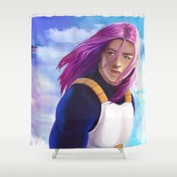 dragonball Shower Curtains featuring Hope of the Future by Smojojo