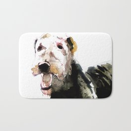 Airedale Terrier on watercolor Bath Mat