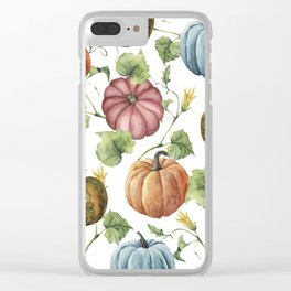 PUMPKINS WATERCOLOR Clear iPhone Case