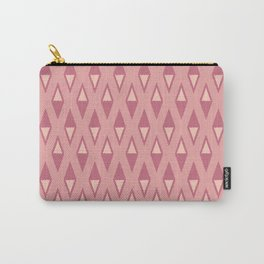 Classic Diamond and Stripes Pattern 242 Dusty Rose Carry-All Pouch