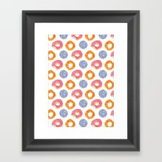 sweet things: doughnuts Framed Art Print
