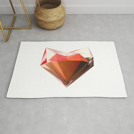 Heart in Glass Rug