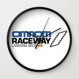 Omnom Raceway - Lasagna Seca Wall Clock
