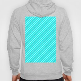 Diagonal Lines (White/Aqua Cyan) Hoody