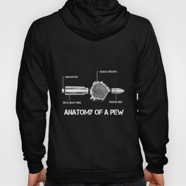 Mens Bullet Ammunition Anatomy 5,56 mm Design For A Soldier product Hoody