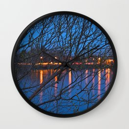 Budding Twilight Spring Wall Clock