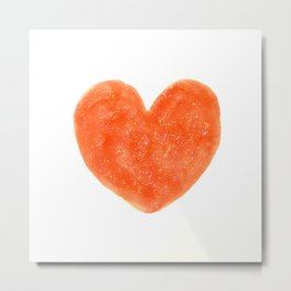 Cute Strawberry Red Heart Metal Print