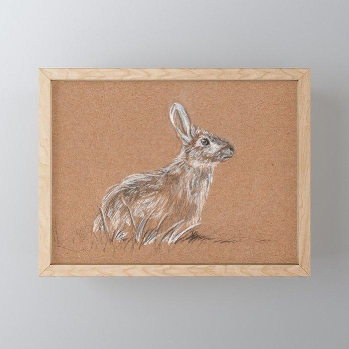 Easter bunny Framed Mini Art Print