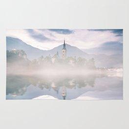 misty waters Rug