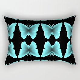 Blue Butterfly Print / Pattern Rectangular Pillow