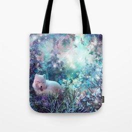 sleeping fox, enchanted dreams Tote Bag