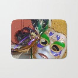 New Orleans Mardi Gras Mask Bath Mat