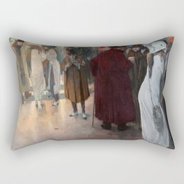 Leaving the Theatre by Leo Gestel Rectangular Pillow