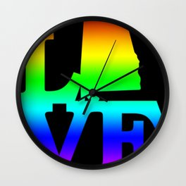Alabama Pride USA State Love Map Wall Clock