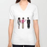 treat yo self V-neck T-shirts featuring Treat Yo Self by LOVEMI DESIGN