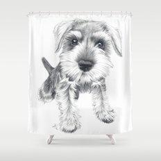 Schnozz the Schnauzer Shower Curtain