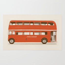 Red London Bus Rug