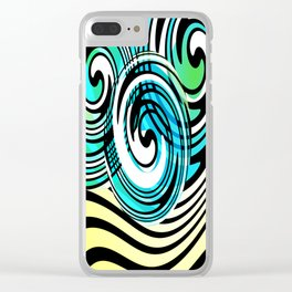 """Rotating in Circles Series 05 """"Ocean Waves"""" Clear iPhone Case"""