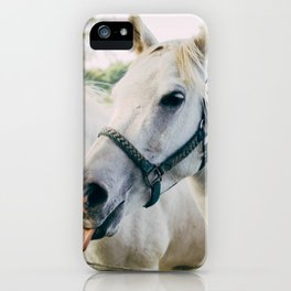 White Horses iPhone Case