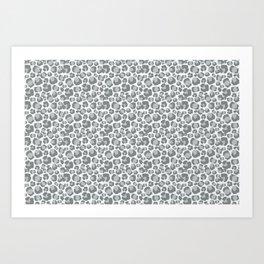 Snow Leopard Feline Art Print