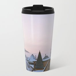 Winter In An Old Mining Town Travel Mug