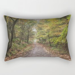 Autumn Cycle Path Rectangular Pillow