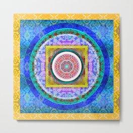 Exquisite Mind Tibetan Inspired HDR Mandala 1 Metal Print