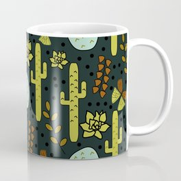 Cacti and butterflies at night Coffee Mug