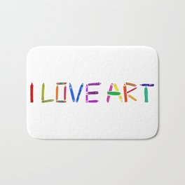 I love art Bath Mat
