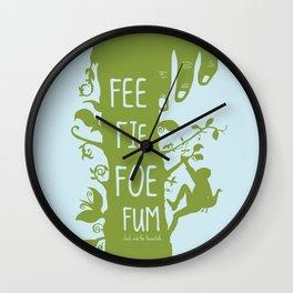 FEE FIE FOE FUM - Jack and the Giant Bean Stalk Wall Clock