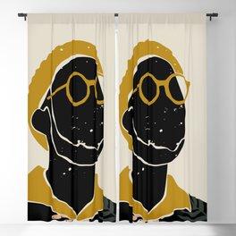 Black Hair No. 8 Blackout Curtain