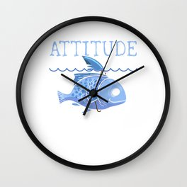 Cute Fish with the Attitude of a Shark Wall Clock