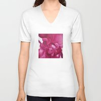 orchid V-neck T-shirts featuring Orchid by S.Newton