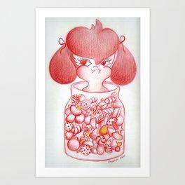 Buffy in a Jar Art Print