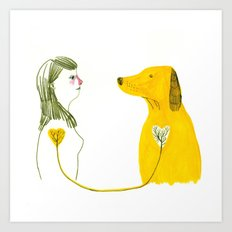 LOVE AND DOGS part 2 Art Print
