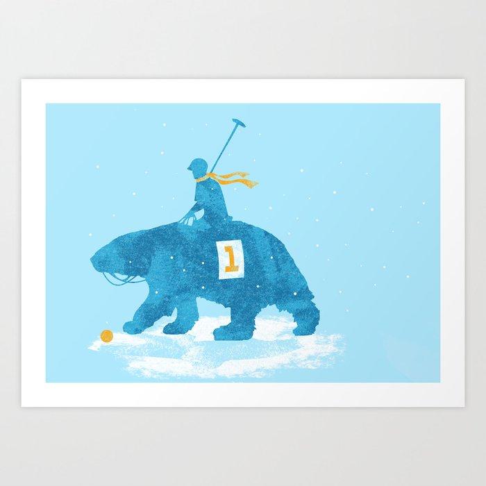 the polar games Art Print