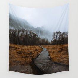 Misty Yosemite Trails Wall Tapestry