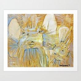 Boxfish in Yellow Art Print