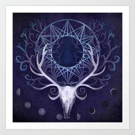 Season Of The Moon's Winter Fire Art Print