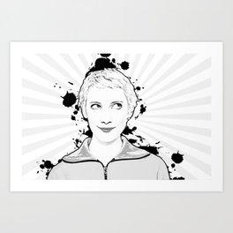 Pop Art, Portrait of Women Looking Up Art Print