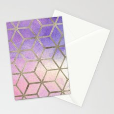 Pixie dust geometric watercolor Stationery Cards