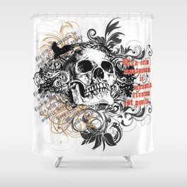The life of the dead is retained in the memory of the living Shower Curtain