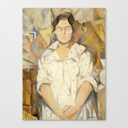 Rafael Barradas - Portrait of Pilar, 1919 Canvas Print