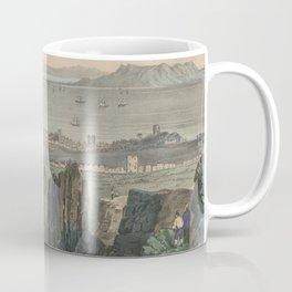 Vintage Pictorial Map of Dublin Bay Ireland (1907) Coffee Mug