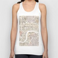 london map Tank Tops featuring LONDON by Mapsland