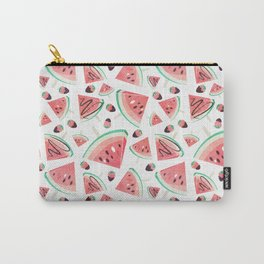 Watermelon popsicles, strawberries and chocolate Carry-All Pouch